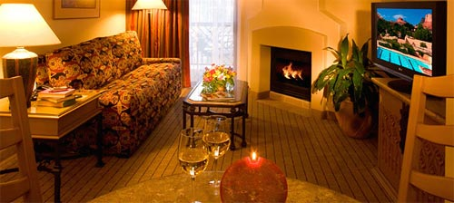 Our Suite with Parlor Fireplace