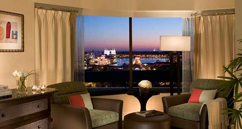Our One King Bed with Downtown Disney View Room